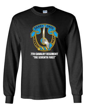7th Cavalry Regiment Long-Sleeve Cotton Shirt  -Chest