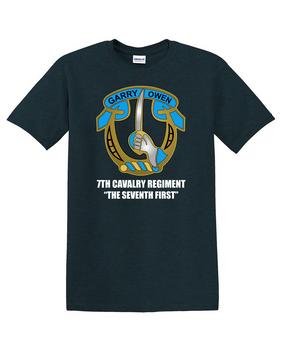 7th Cavalry Regiment Cotton T-Shirt -Chest
