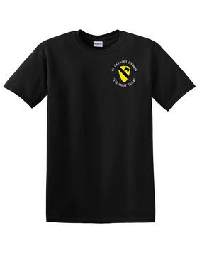 1st Cavalry Division Cotton T-Shirt -Pocket (C)