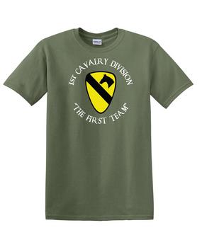 1st Cavalry Division Cotton T-Shirt -Chest (C)