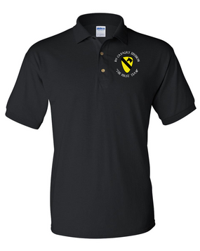 1st Cavalry Division Embroidered Cotton Polo Shirt (C)