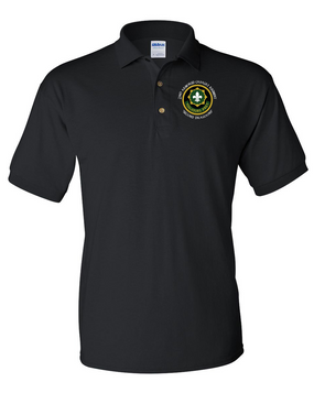 2nd Armored Cavalry Regiment Embroidered Cotton Polo Shirt (C)