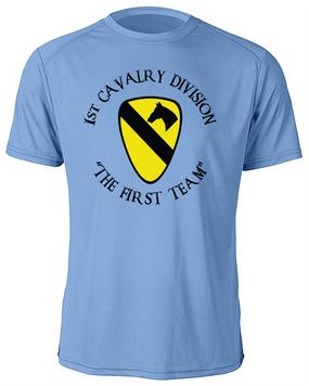 1st Cavalry Division Moisture Wick Shirt  -Chest (C)