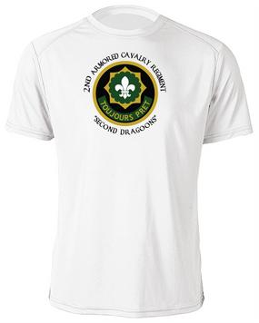 2nd Armored Cavalry Regiment Moisture Wick Shirt  -Chest (C)