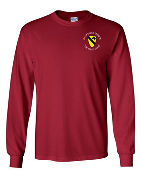 1st Cavalry Division Long-Sleeve Cotton Shirt  -Pocket (C)