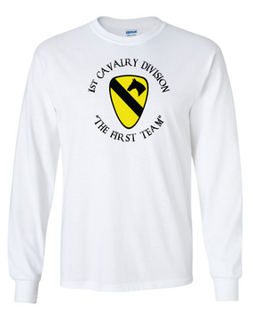 1st Cavalry Division Long-Sleeve Cotton Shirt  -Chest (C)
