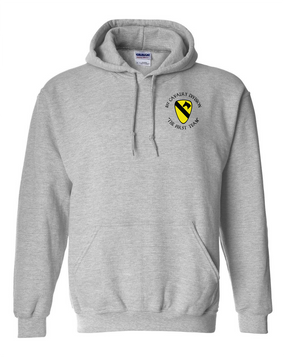 1st Cavalry Division Embroidered Hooded Sweatshirt  (C)