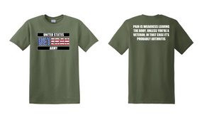 US Army Veteran Cotton T-Shirt -Arthritis-(FF)