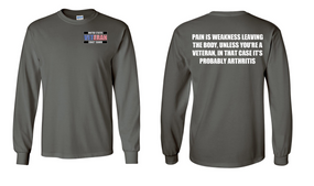 US Coast Guard Veteran Long-Sleeve Cotton Shirt  -Arthritis- (P)