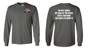 US Army Veteran Long-Sleeve Cotton Shirt  -Fence- (P)