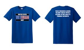 US Navy Veteran Cotton T-Shirt -Arthritis-(FF)