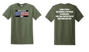 US Army Veteran Cotton T-Shirt -Morally-(FF)