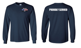 US Army Veteran Long-Sleeve Cotton Shirt  -Proudly- (P)