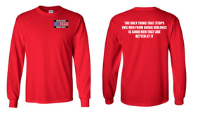 US Marine Corps Veteran Long-Sleeve Cotton Shirt  -Evil- (P)