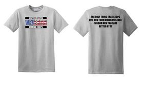 US Marine Corps Veteran Cotton T-Shirt -Evil-(FF)