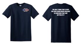 US Marine Corps Veteran Cotton T-Shirt -Evil-(P)
