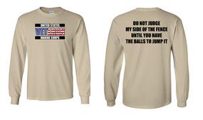 US Marine Corps Veteran Long-Sleeve Cotton Shirt  -Fence- (FF)
