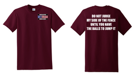 US Marine Corps Veteran Cotton T-Shirt -Fence-(P)