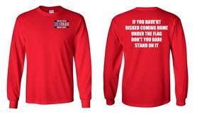 US Marine Corps Veteran Long-Sleeve Cotton Shirt  -Flag- (P)