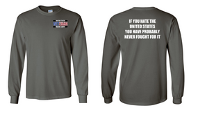 US Marine Corps Veteran Long-Sleeve Cotton Shirt  -Fought- (P)