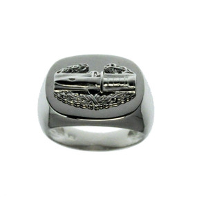 US Army Sterling Silver Combat Action Badge Ring (CAB)