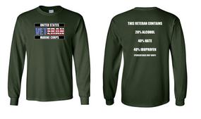US Marine Corps Veteran Long-Sleeve Cotton Shirt  -Hate- (FF)