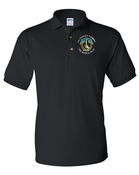 7th Cavalry Regiment Embroidered Cotton Polo Shirt (C)