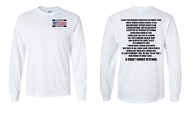 US Coast Guard Veteran Long-Sleeve Cotton Shirt  -That Which Others- (P)