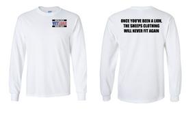 US Marine Corps Veteran Long-Sleeve Cotton Shirt  -Lion- (P)