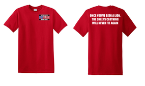 US Marine Corps Veteran Cotton T-Shirt -Lion-(P)