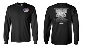 US Marine Corps Veteran Long-Sleeve Cotton Shirt  -Marine- (P)