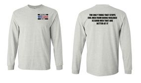 US Air Force Veteran Long-Sleeve Cotton Shirt  -Evil- (P)