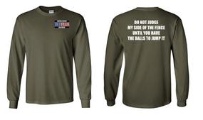 US Air Force Veteran Long-Sleeve Cotton Shirt  -Fence- (P)