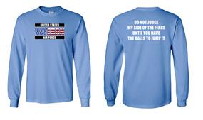 US Air Force Veteran Long-Sleeve Cotton Shirt  -Fence- (FF)