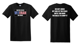 US Air Force Veteran Cotton T-Shirt -Fence-(FF)