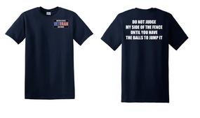 US Air Force Veteran Cotton T-Shirt -Fence-(P)