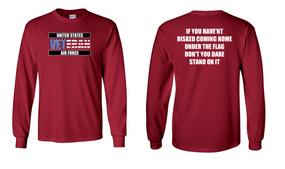 US Air Force Veteran Long-Sleeve Cotton Shirt  -Flag- (FF)