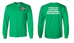 US Air Force Veteran Long-Sleeve Cotton Shirt  -Fought- (P)