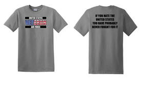 US Air Force Veteran Cotton T-Shirt -Fought-(FF)