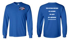 US Air Force Veteran Long-Sleeve Cotton Shirt  -Hate- (P)