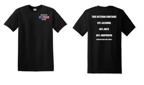 US Air Force Veteran Cotton T-Shirt -Hate-(P)