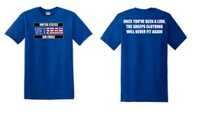 US Air Force Veteran Cotton T-Shirt -Lion-(FF)