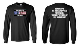 US Air Force Veteran Long-Sleeve Cotton Shirt  -Morally- (FF)
