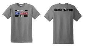 US Air Force Veteran Cotton T-Shirt -Proudly-(FF)