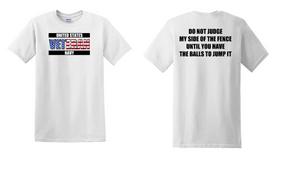 US Navy Veteran Cotton T-Shirt -Fence-(FF)