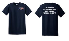 US Navy Veteran Cotton T-Shirt -Fence-(P)