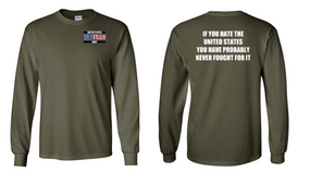 US Navy Veteran Long-Sleeve Cotton Shirt  -Fought- (P)