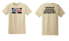 US Navy Veteran Cotton T-Shirt -Fought-(FF)