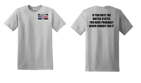 US Navy Veteran Cotton T-Shirt -Fought-(P)