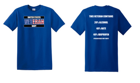 US Navy Veteran Cotton T-Shirt -Hate-(FF)